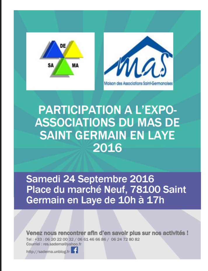 Participation l expo associations du mas de saint - Piscine de saint germain en laye ...